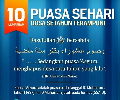 Bacaan Doa Niat Puasa Asyura 10 Muharram
