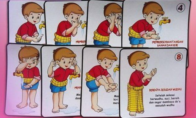 doa wudhu lengkap dengan gambar