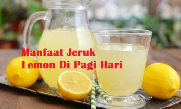 Manfaat Jeruk Lemon Di Pagi Hari