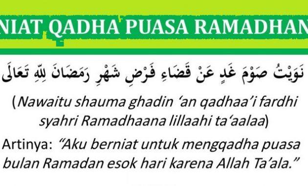 Bacaan Doa Niat Puasa Ganti Qadha Mengganti Bulan Ramadhan