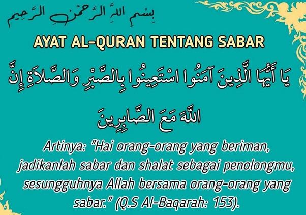 Kumpulan Ayat Al-Quran Tentang Sabar menghadapi masalah dan ujian