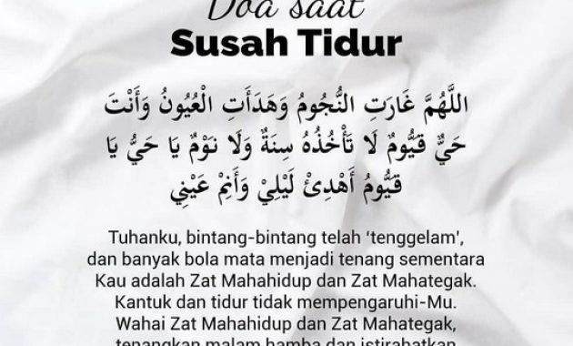 Bacaan doa ketika susah atau sulit tidur lengkap dengan artinya